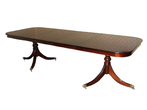 Double Leaf Solid Mahogany Regency Table with Rim