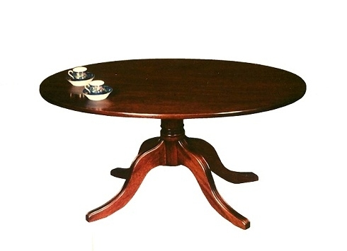 Oval  Coffee Table - Solid Mahogany