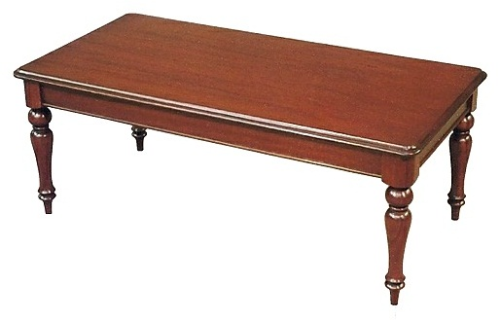 Victorian Coffee Table with Plain Legs Solid Mahogany Stephen