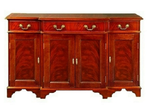 Four Door Breakfront Regency Sideboard - Solid Mahogany