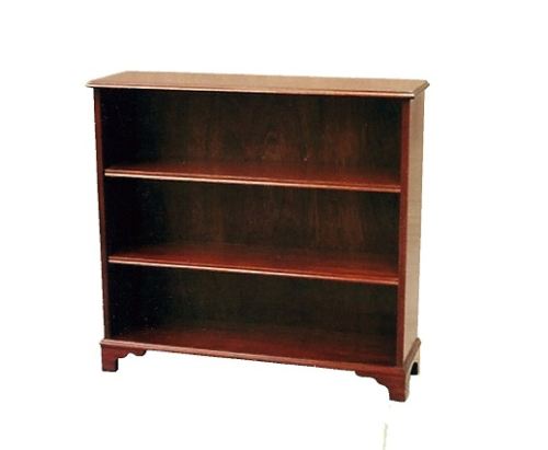 Small Plain Bookcase - Solid Mahogany
