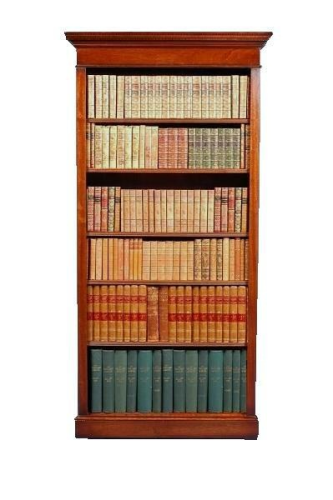 Traditional Tall Bookcase - Solid Mahogany