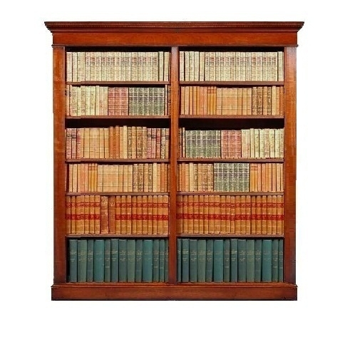 Traditional Double Bookcase - Solid Mahogany